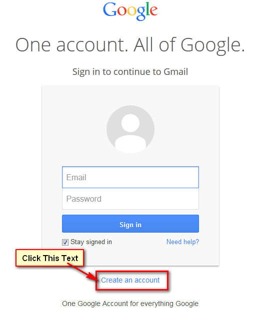 Way To Create Gmail Account