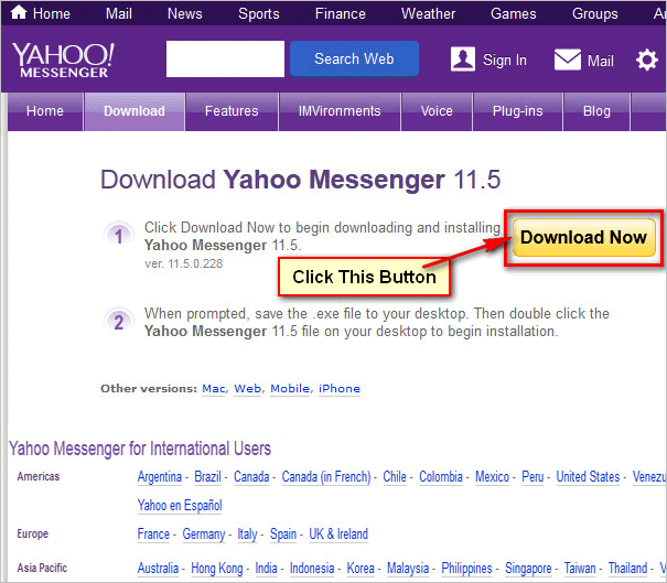 download yahoo messenger latest version for windows 7