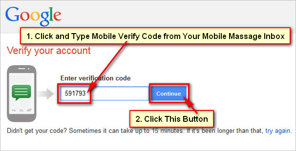 Gmail-Mobile-Verification-Code