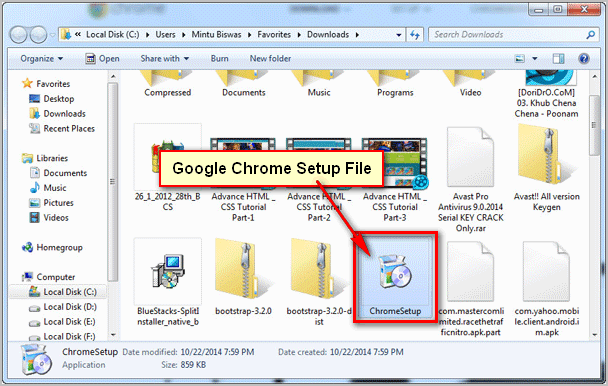 Google-Chrome-Setup-File-on-Firefox