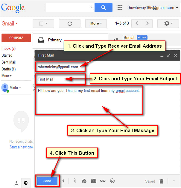 How To Send An Email Using Gmail Mail Account