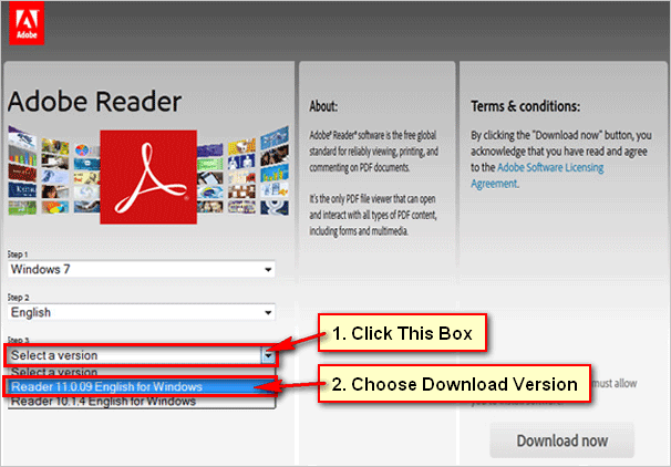 Choose-adobe-reader-version