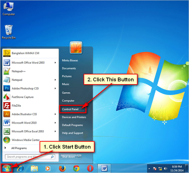Customize mouse pointer windows 7