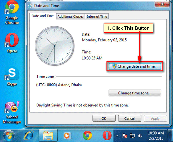 Customize date and time