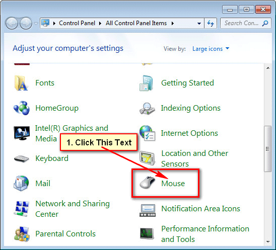 How to Customize the Look of Mouse Pointer in Windows 7