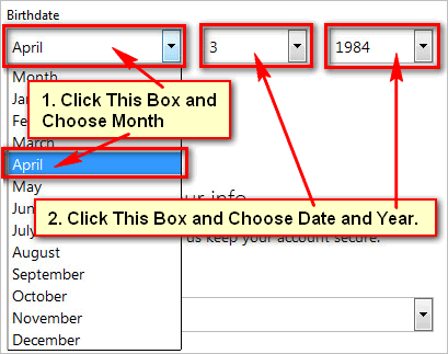 Select-your-birthday-for-Hotmail