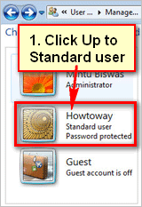 Change standard user to Administrator Windows 7