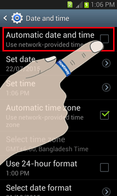 Change time on Android Phone