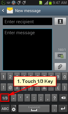 More key on Android Phone