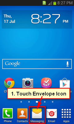 Type a message on Android
