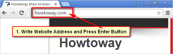 Open a Website on Google Chrome