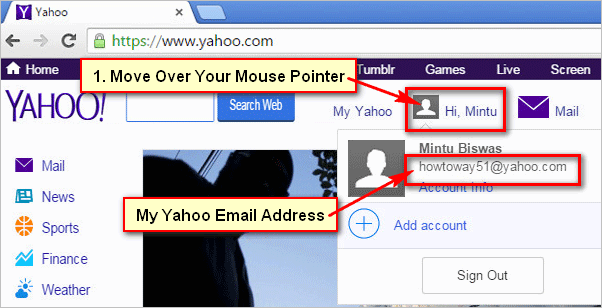 How to find Yahoo email address