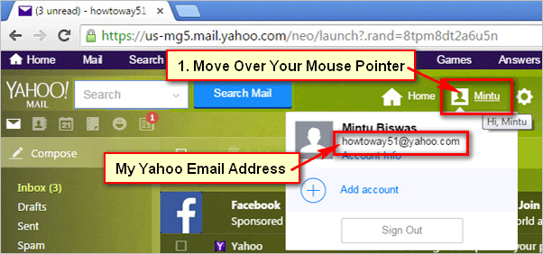 How to Find My Yahoo Email Address on Yahoo