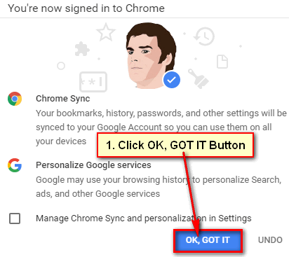Chrome Sign In Again