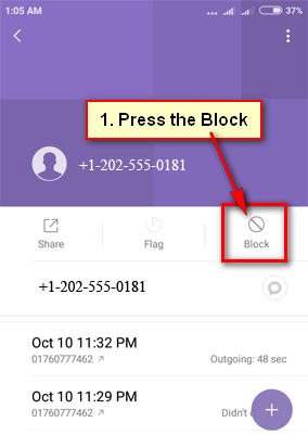 How do you block text messages on Android