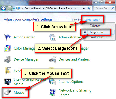 How to change cursor in Windows 7