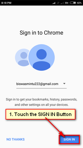 Sync Bookmarks Chrome Android
