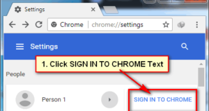 Chrome Sign In
