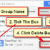 Delete a Topic from Gmail Groups Page