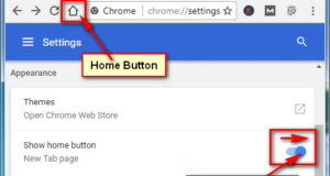 Home Button on Google Chrome