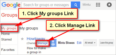 Invite someone to join your Gmail Group