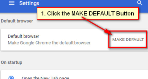 Make Google Chrome Default Browser in Windows 7