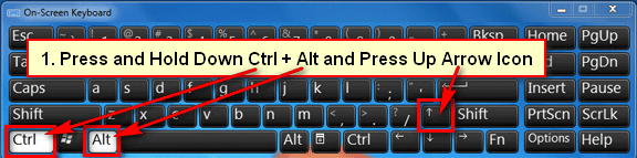 Rotate screen keyboard shortcut