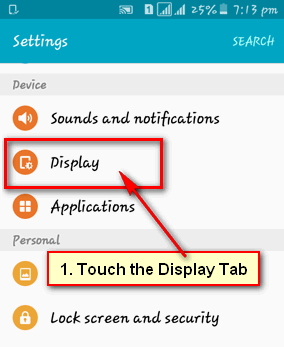 How to Adjust the Screen Timeout on Android Mobile Phone