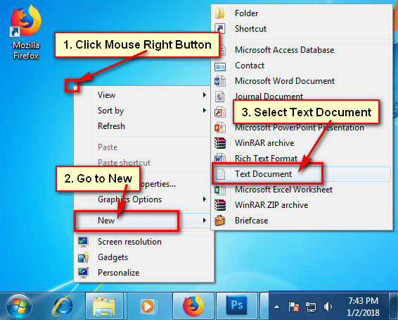 Create Text Document