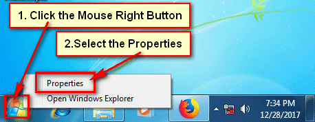Lock the Taskbar from Start Menu Properties