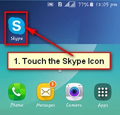 Open Skype on Android Phone