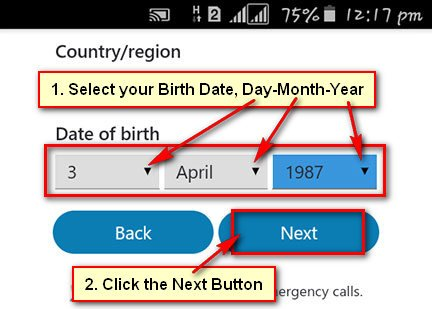 Select Your Birth Date