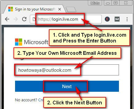 Microsoft Sign in Account