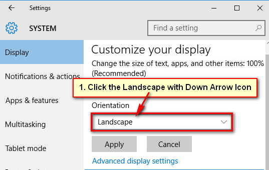 Change Display Settings on Windows 10