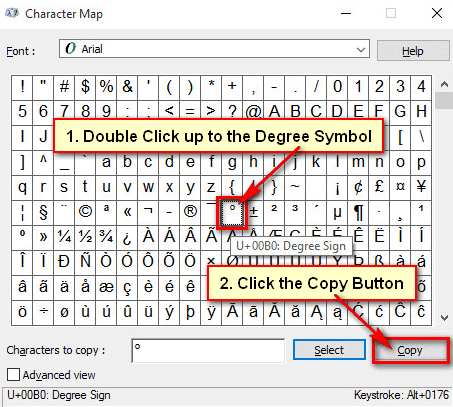 Character Map on Windows