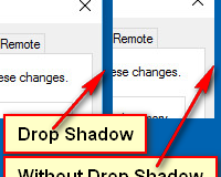 Disable Drop Shadows in Windows 10
