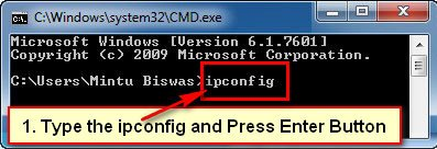How to Check IP Address cmd