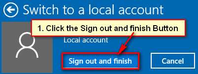 How to Sign Out of Microsoft Account in Windows 10