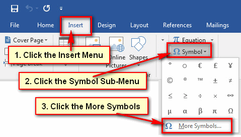 How to Type Degree Symbol in Word