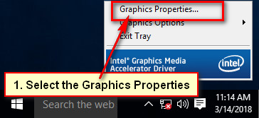 Intel Graphics Properties
