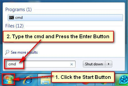 how to use cmd in windows 7