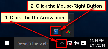 Show Hidden Taskbar Icon on Windows 10