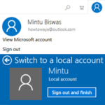 Sign Out of Microsoft Account