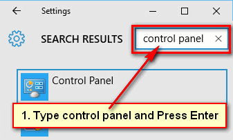 Start the Control Panel in Windows from the Settings Page