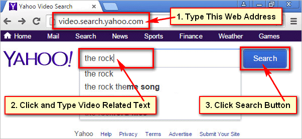 Yahoo Video Search