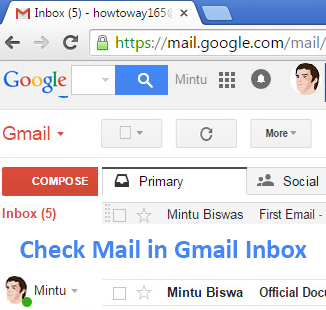 Check Mail in Gmail Inbox on Computer and Andoird Mobile