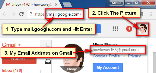 Find Email Address on Gmail