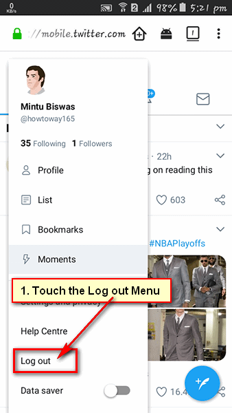 How to Logout of Twitter on Android Mobile
