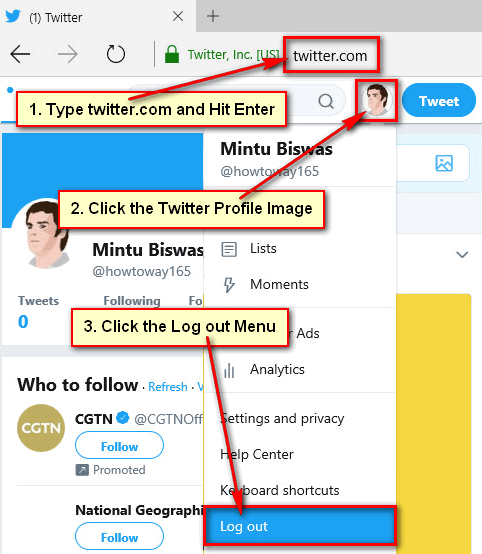 How to Logout of Twitter on Computer
