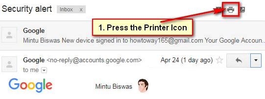 How to Print Multipel Emails in Gmail